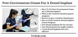 Free Government Grants For A Dental Implant