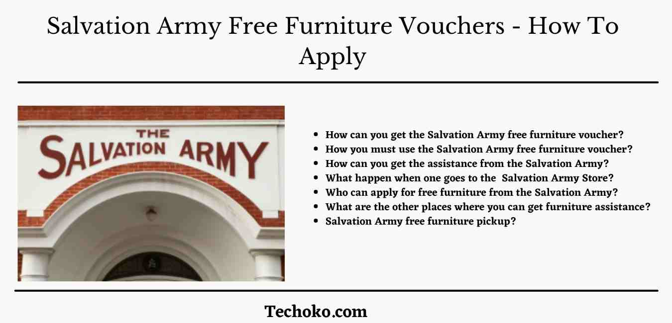Salvation Army Free Furniture Vouchers – How To Apply